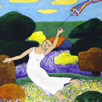 Kite Flyer is a Limited Edition print by Fran Slade