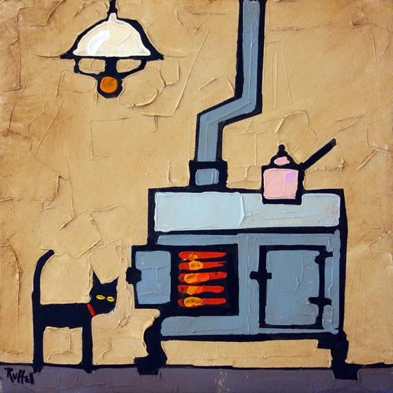 CAT AND STOVE
