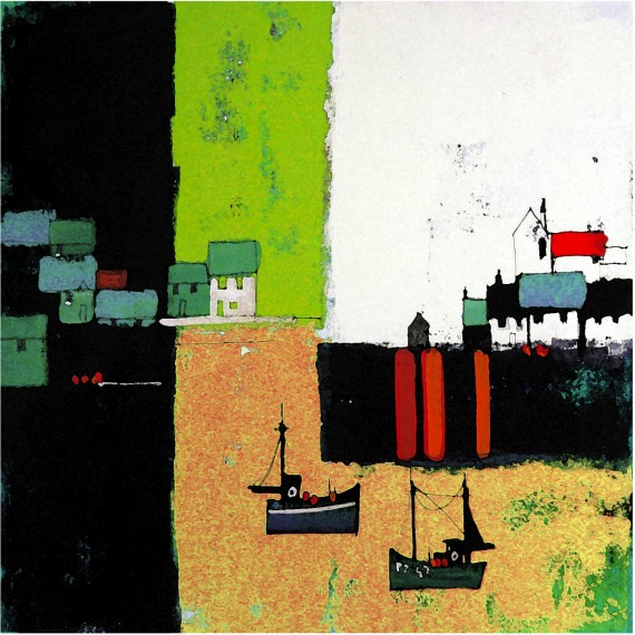 Harbour Abstraction Green by Colin Ruffell