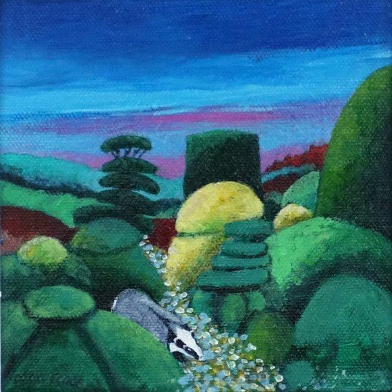 BADGER AND TOPIARY by Fran Slade