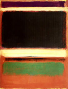 'Magenta, Black, Green on Orange', by Mark Rothko 1947