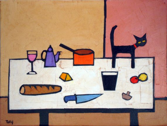 Casa Ava Table Top painting and print by Colin Ruffell OAE100191