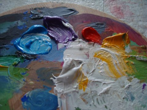 Mixing paint 2