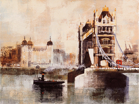 TOWER BRIDGE AND TUG