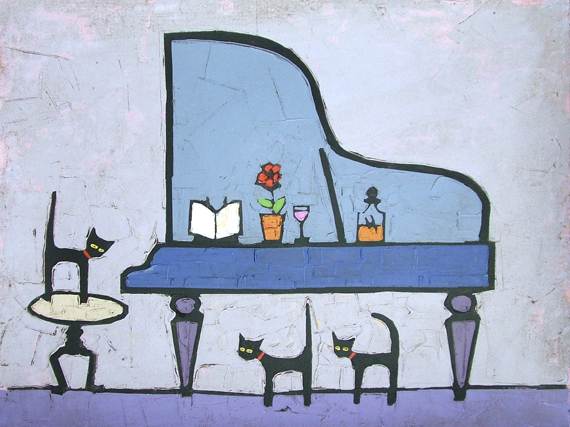 CAT AND BLUE GRAND