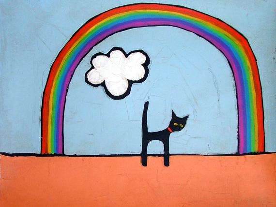 CAT AND RAINBOW