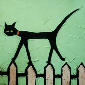 CAT ON FENCE