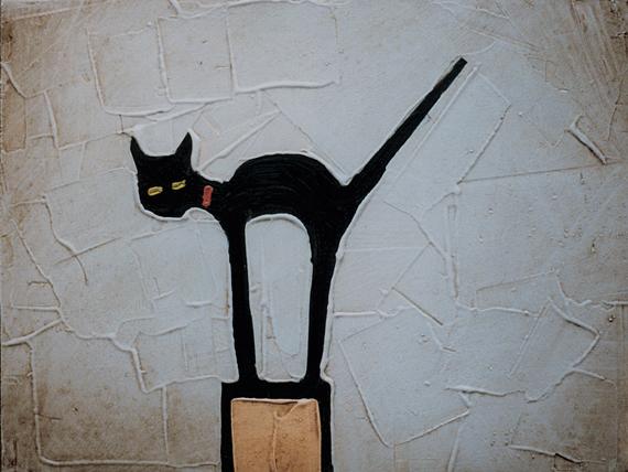 CAT ON POST