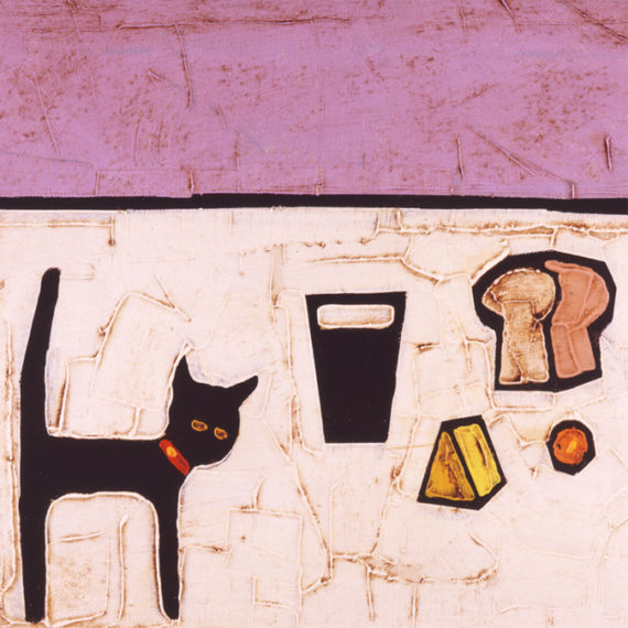 CAT GUINNESS AND CHEESE by Colin Ruffell