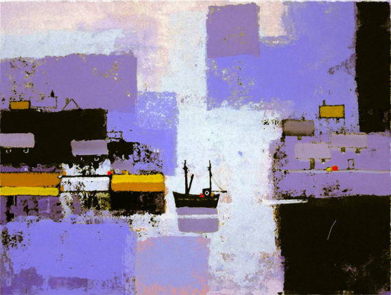 HARBOUR ABSTRACTION WINTER by Colin Ruffell