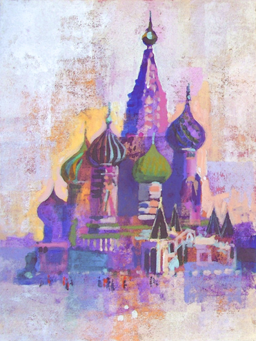 ST BASILS MOSCOW by Colin Ruffell