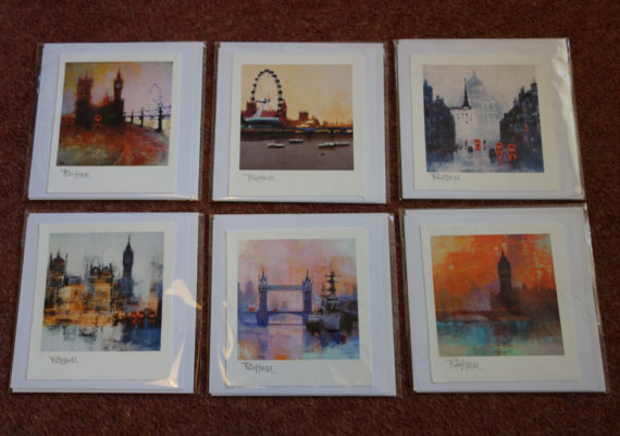6 London Cards by CR