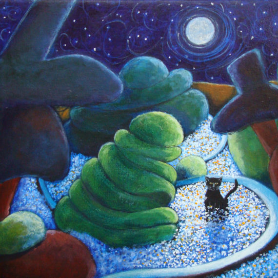 MOON CAT by Fran Slade