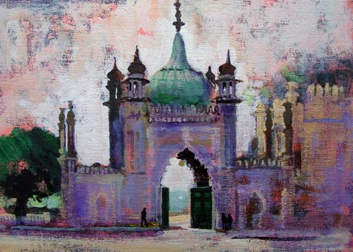 BRIGHTON PAVILION NORTH GATE by Colin Ruffell