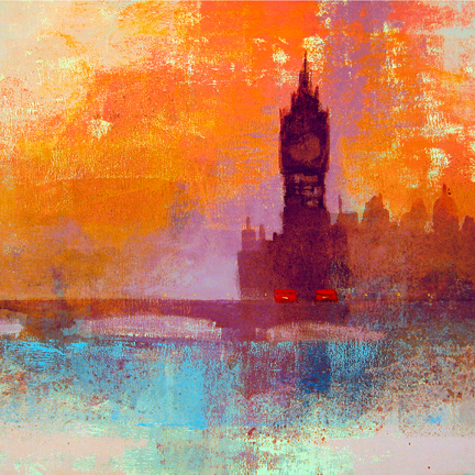 BIG BEN SUNSET card