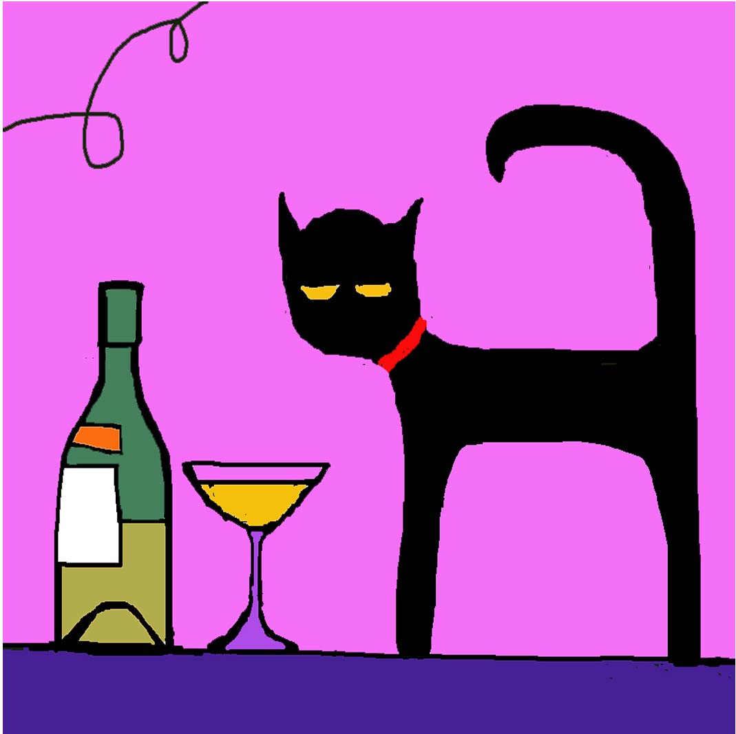 HANGOVER CAT card
