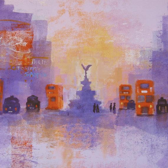 LONDON SUMMER EVENING card