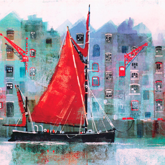 THAMES BARGE card