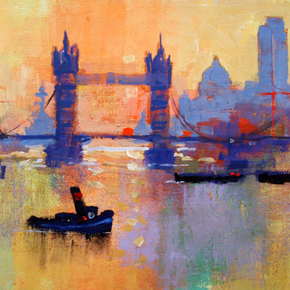 TOWER BRIDGE SUNSET card