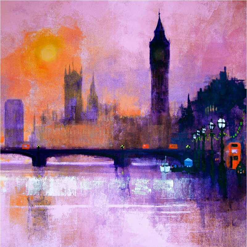 WESTMINSTER SUNSET card