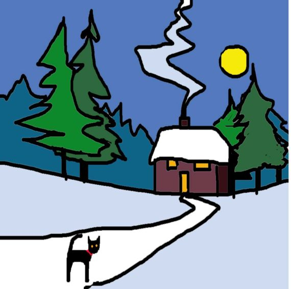 XMAS COTTAGE card