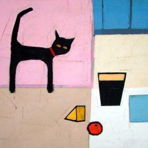 Cat and Blue Mug