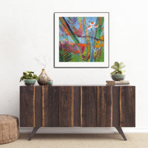 Tropics over sideboard