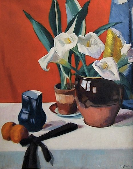 Francis Cadell Arum Lilies 1920