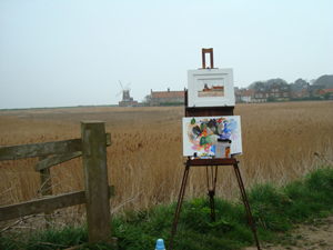 plein air at Cley 3 April 09