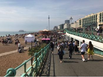 Down to seafront walk Brighto