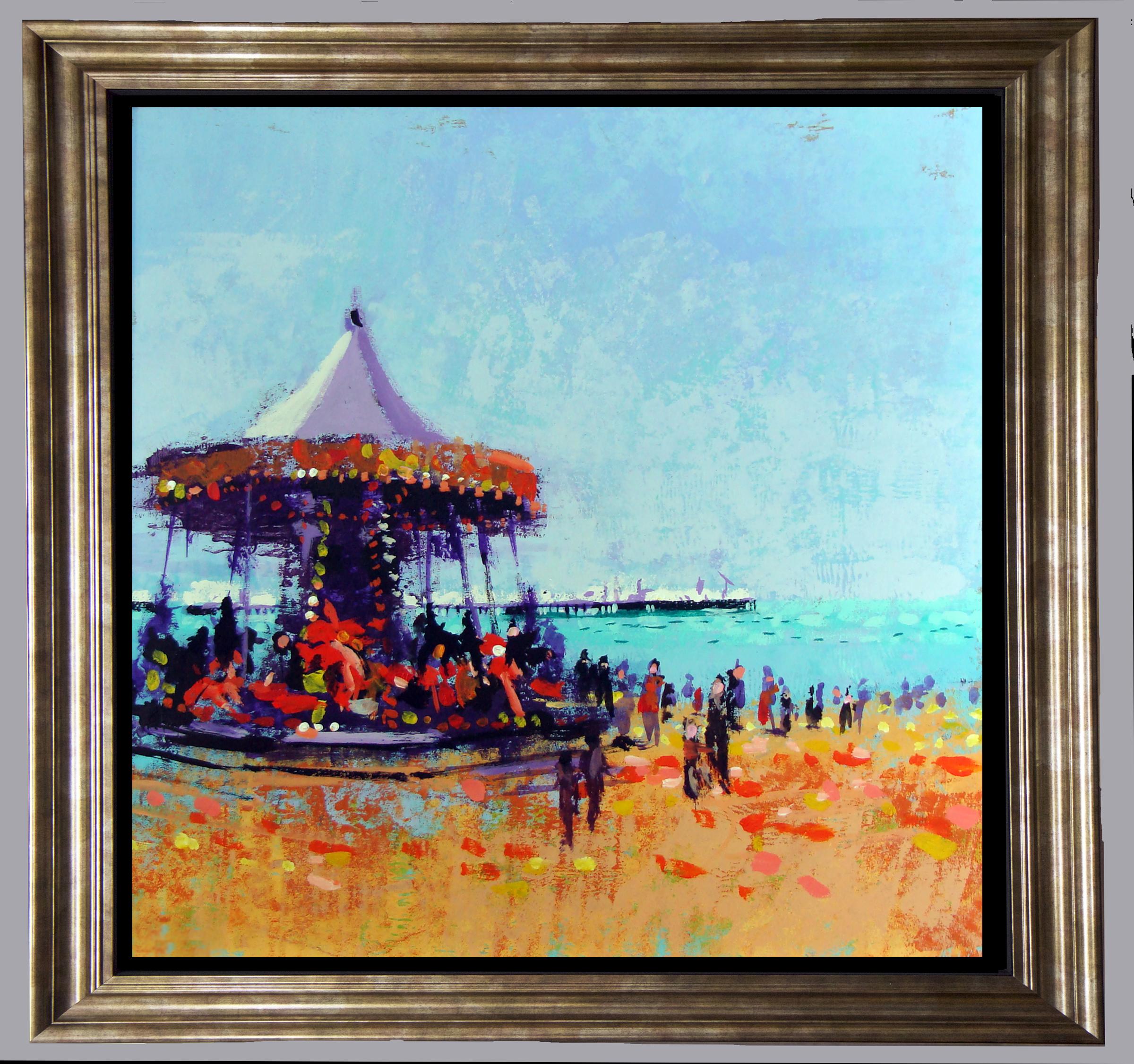 carousel in gold frame